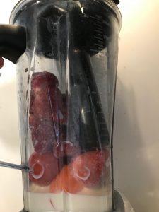認知症予防レシピ トマトといちごのスムージー